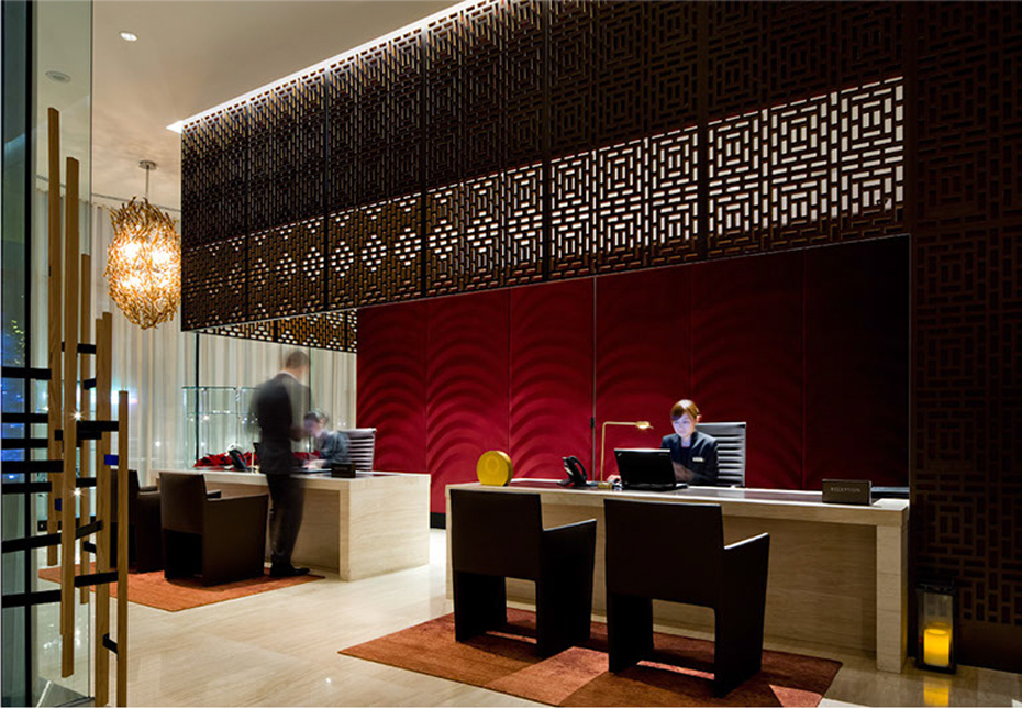 office of mcfarlane biggar architects + designers, Toronto, bosk Restaurant + Shangri-La Hotel Lobby